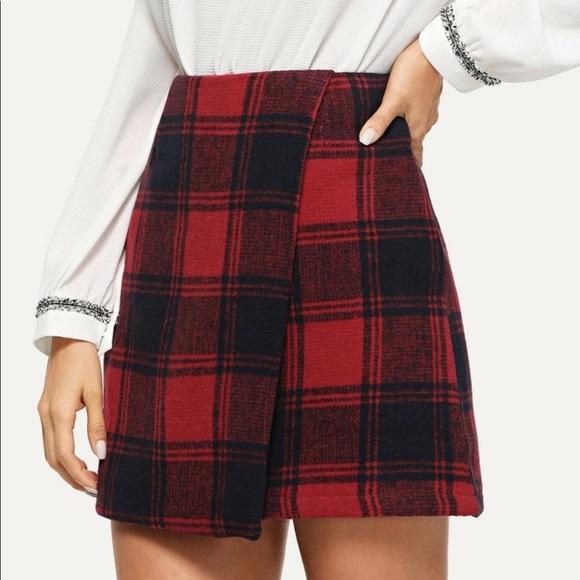 Shein plaid mini skirt